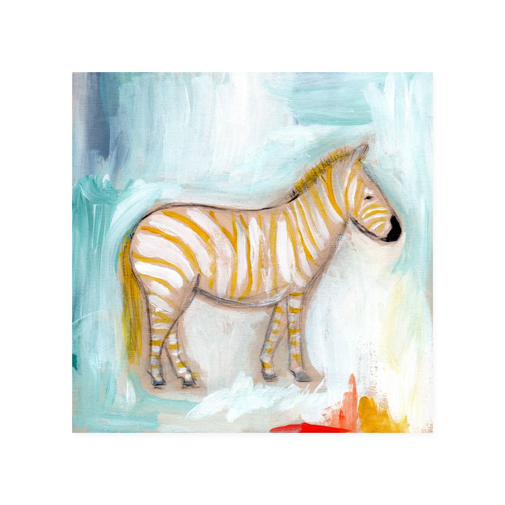 Zebra Wild Watercolor Wall Art