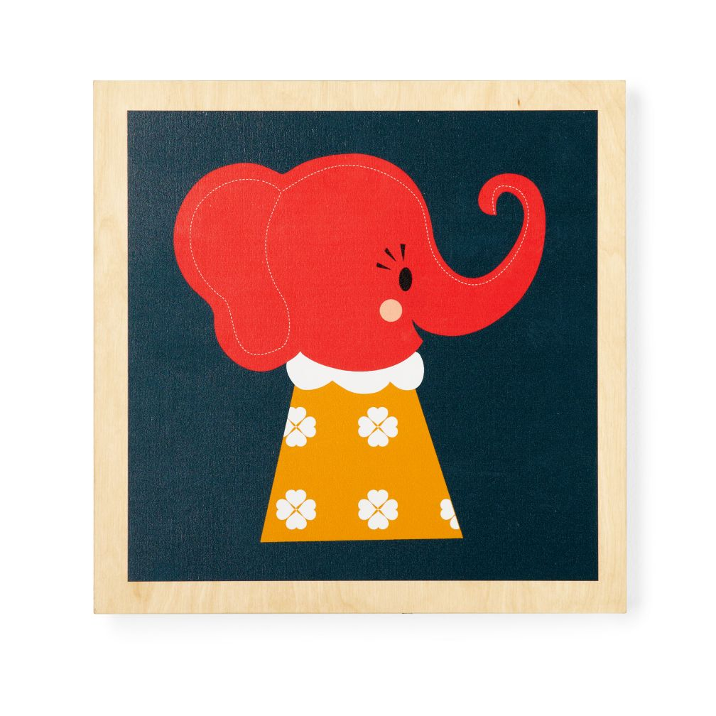 Wooden Animal Wall Art (Elephant)