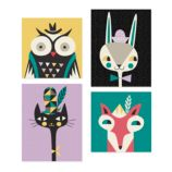 Animal Bebop Wall Art (Set of 4)