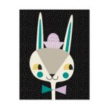 Animal Bebop Canvas Wall Art (Bunny)