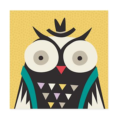 Animal Bebop Canvas Wall Art (Owl)