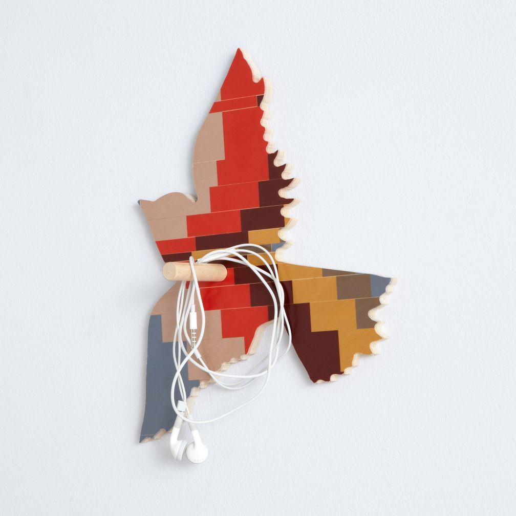 Flashy Forest Bird Wall Hook (Orange/Brown)