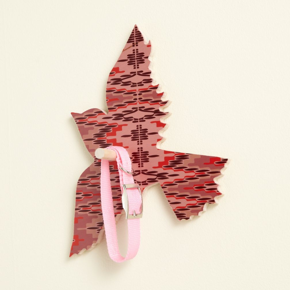 Flashy Forest Bird Wall Hook (Pink/Purple)