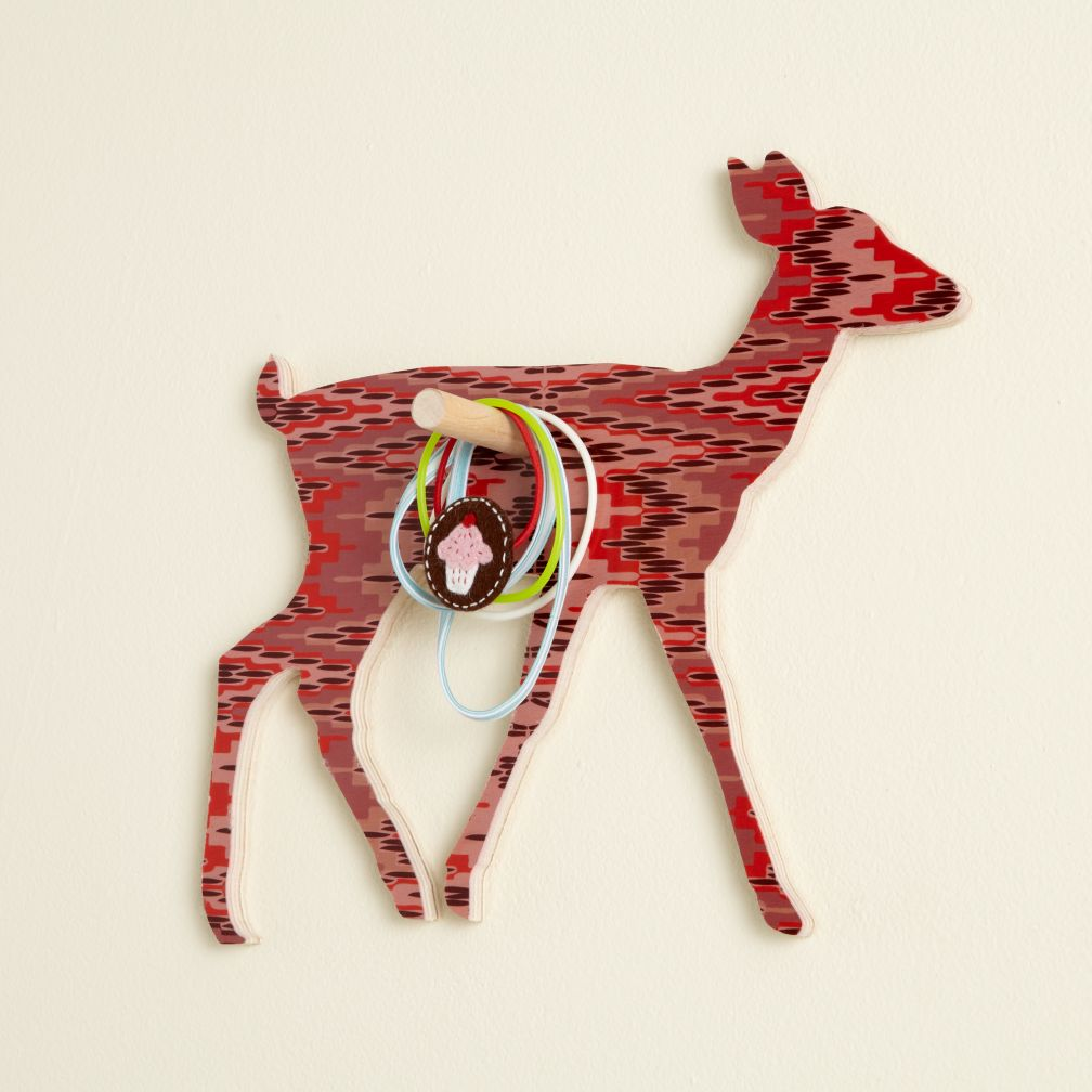 Flashy Forest Deer Wall Hook (Pink/Purple)