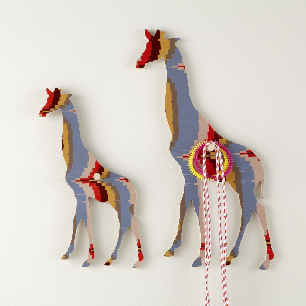Flashy Forest Giraffe Wall Hook (Orange/Blue)