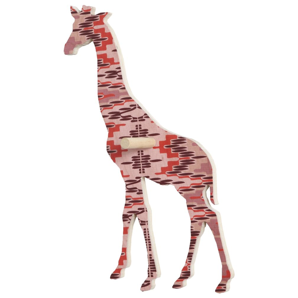 Large Flashy Forest Giraffe Wall Hook (Pink/Purple)