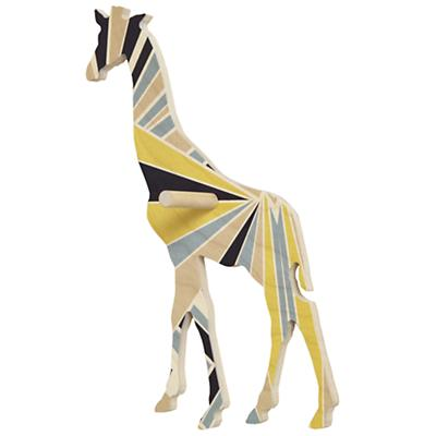 Medium Flashy Forest Giraffe Wall Hook (Blue/Yellow)