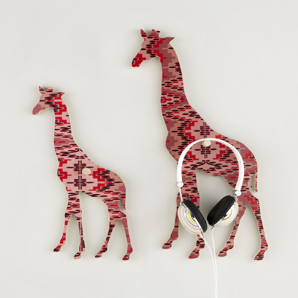 Flashy Forest Giraffe Wall Hook (Pink/Purple)