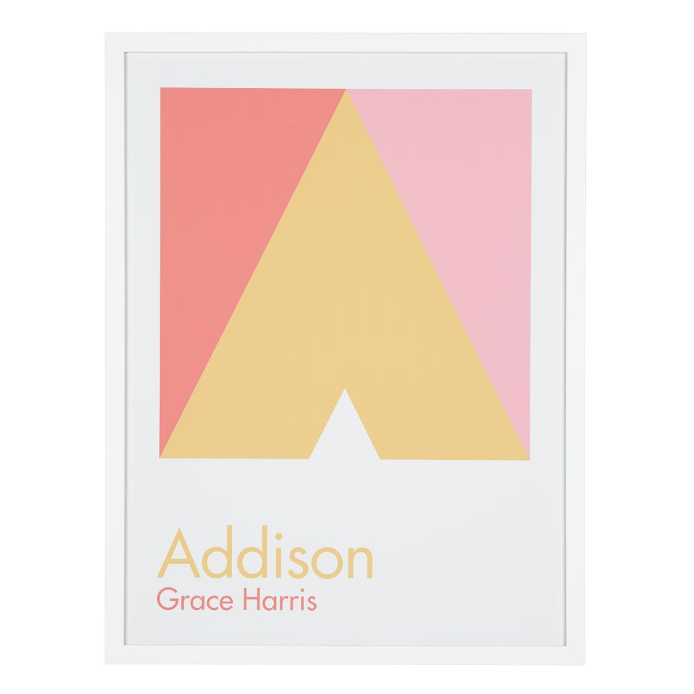Personalized Abstract Wall Art (Pink)