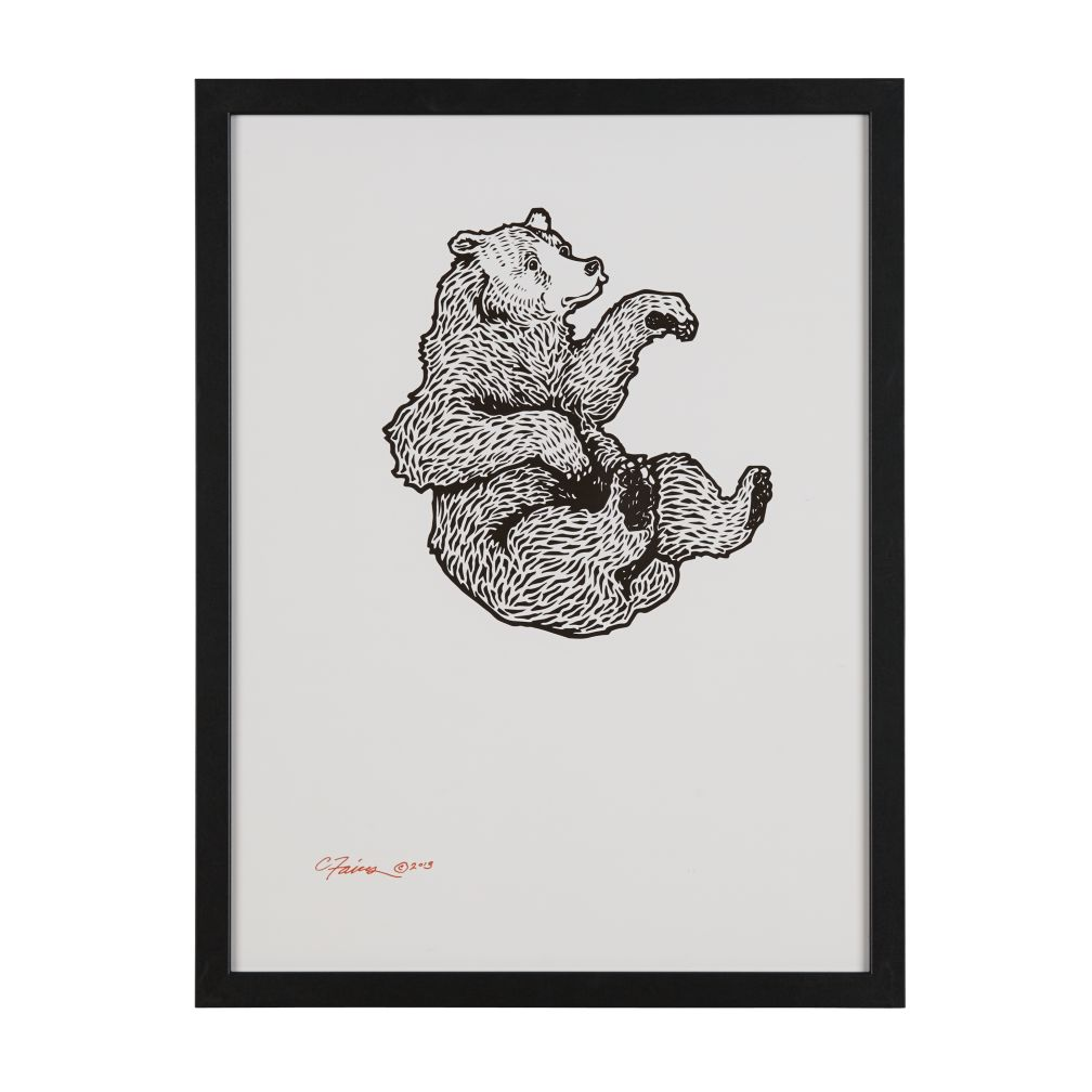 Falling Bear Wall Art