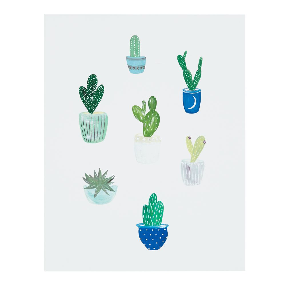 Green Cacti Wall Art