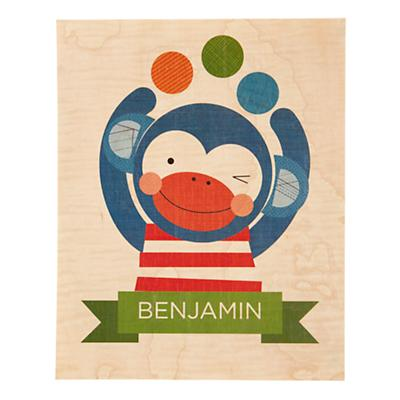 Young and Wild Personalized Art (Monkey)