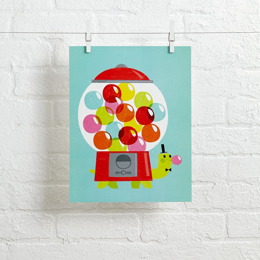 Hooray Today Wall Art (Turtle Gumball)