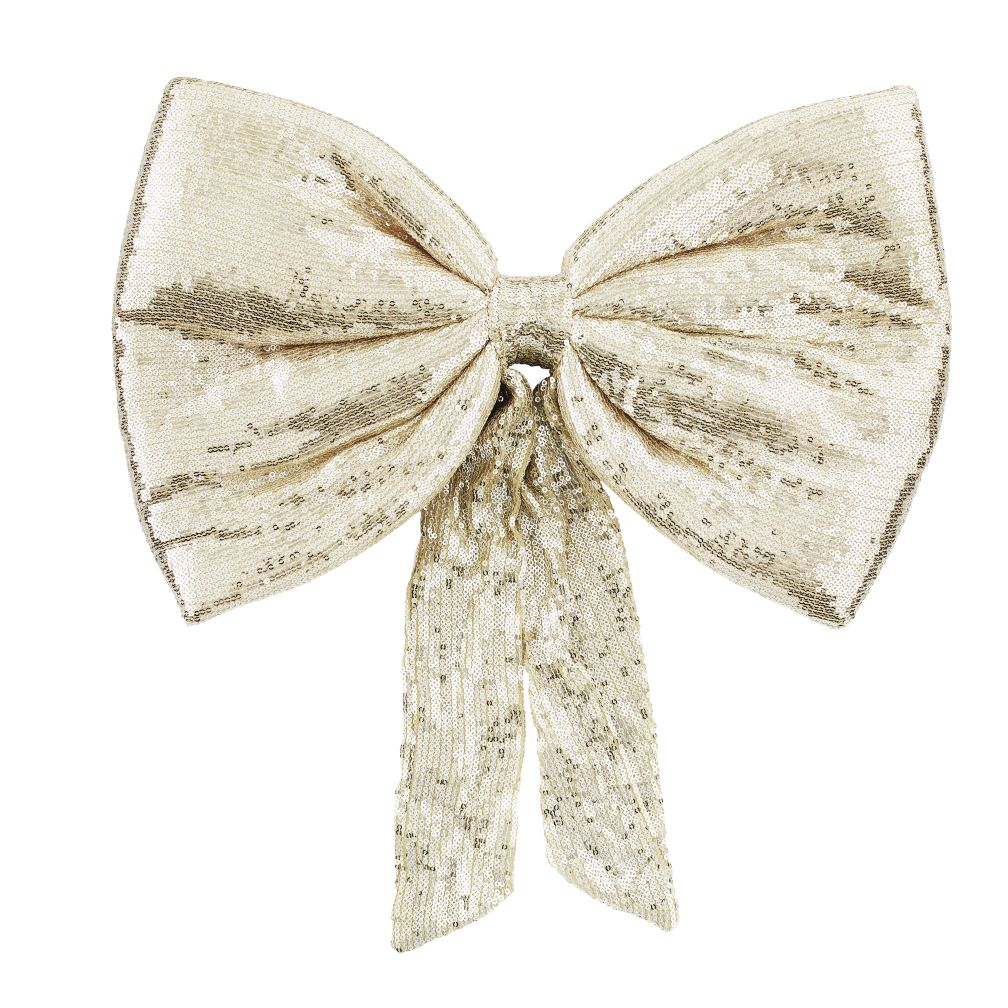 Gold Sequin Bow Wreath