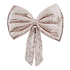 Pink Sequin Bow Wreath