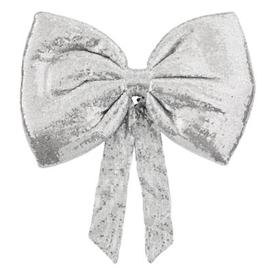 Giant Sequin Bow (Silver)