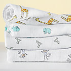 Swaddling Blanket Set: Giraffe, Elephant, Bird, Monkey