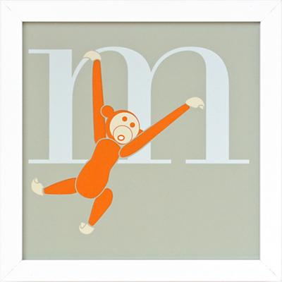 Not Your Usual Alphabet Framed Letter M