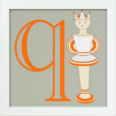 Not Your Usual Alphabet Framed Letter Q