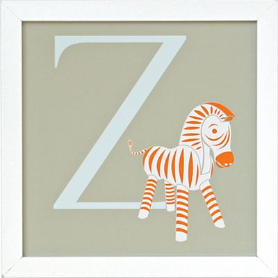 Not Your Usual Alphabet Framed Letter Z