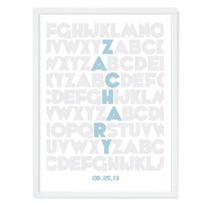 Alphabet Personalized Wall Art (Blue)