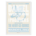 Blue Personalized Band Wall Art with White Frame