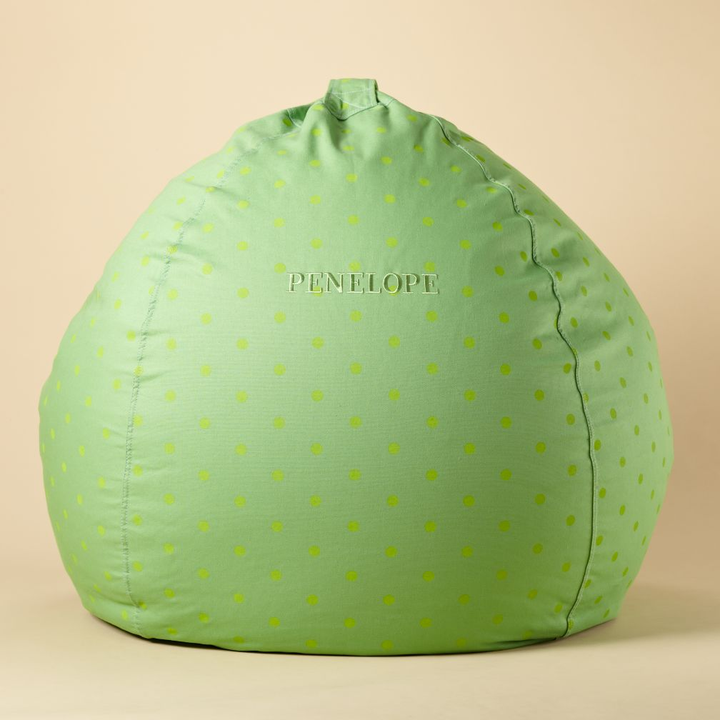 "40"" Green Dot Personalized Ginormous Beanbag"
