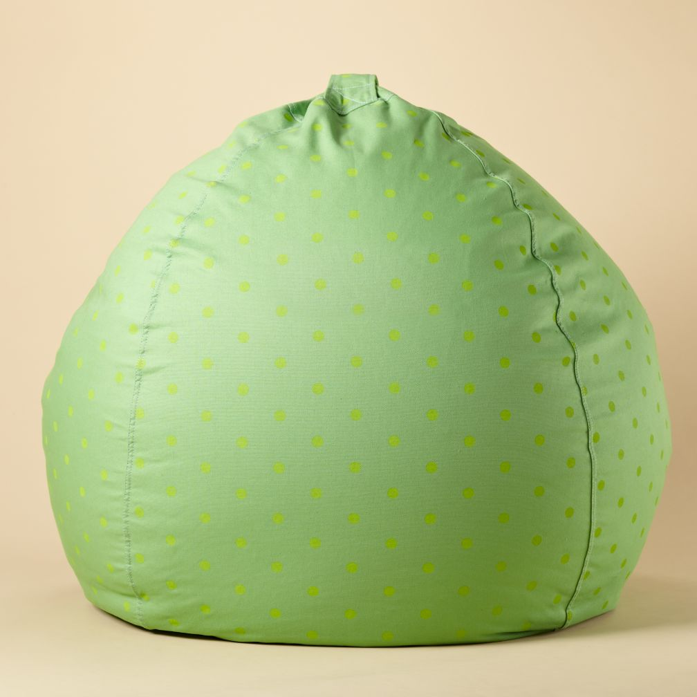 "40"" Green Dots Ginormous Beanbag"