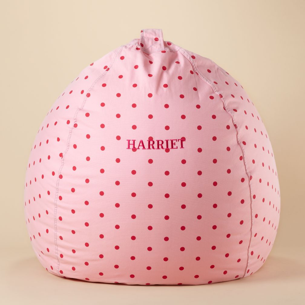 "40"" Personalized Bean Bag Cover (Pink Dots)"