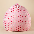 40&amp;quot; Pink Dots Beanbag Chair includes Cover and Insert