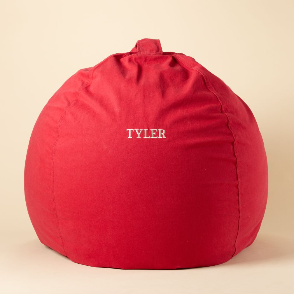 "40"" Personalized Red Ginormous Beanbag Cover"