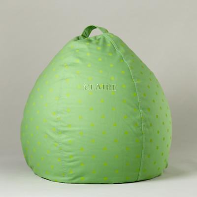 "30"" Green Dot Personalized Beanbag"