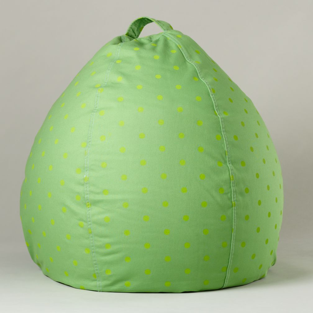 40&quot; Green Dots Ginormous Beanbag Cover