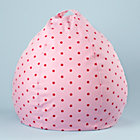 "30"" Pink Dot Beanbag Chair includes Cover and Insert"