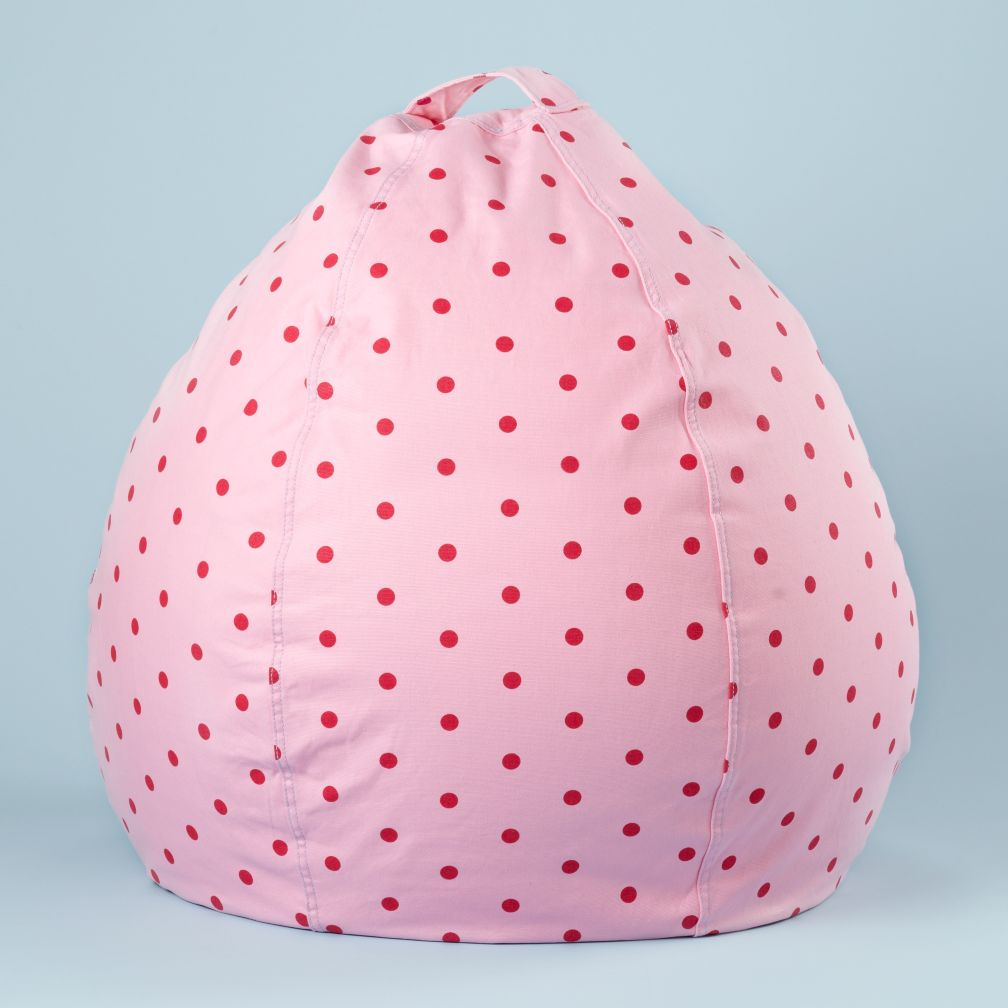 30&quot; Pink Dot Beanbag Cover