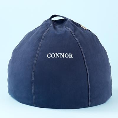 Blue Personalized Beanbag Chair includes Cover and Insert
