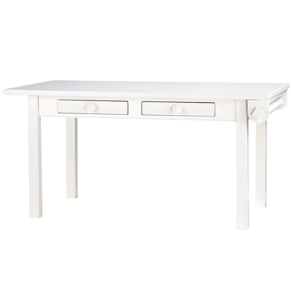 Medium Activity Table w/Paper Roller (White)