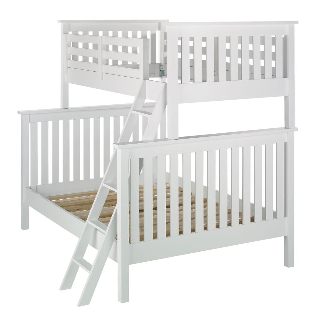White Twin-Over-Full Bunk Bed