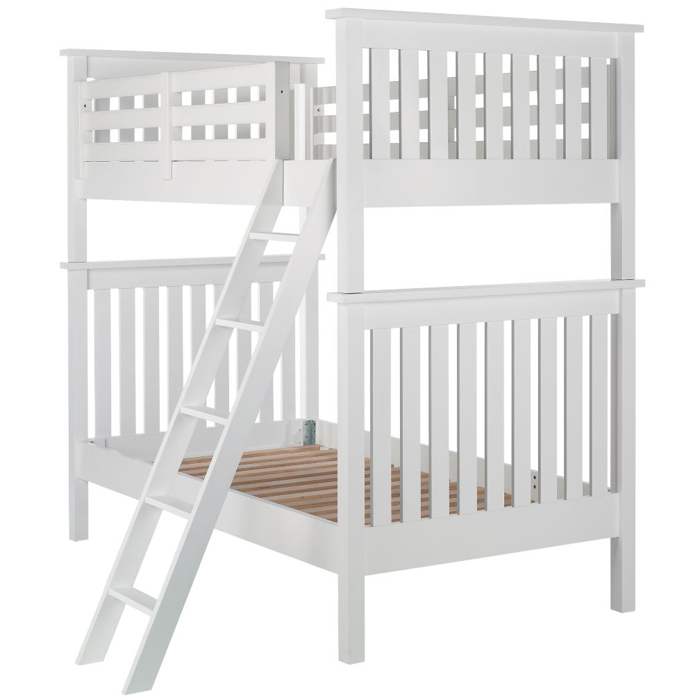 White Twin Simple Bunk Bed
