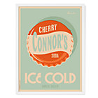 Cherry Soda Personalized White Framed Wall Art