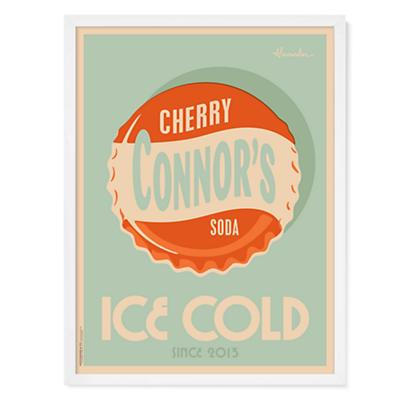 Cherry Soda Personalized Wall Art