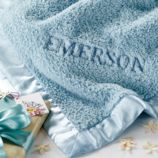 Personalized Cuddle Me Softly Baby Blanket (Lt. Blue)