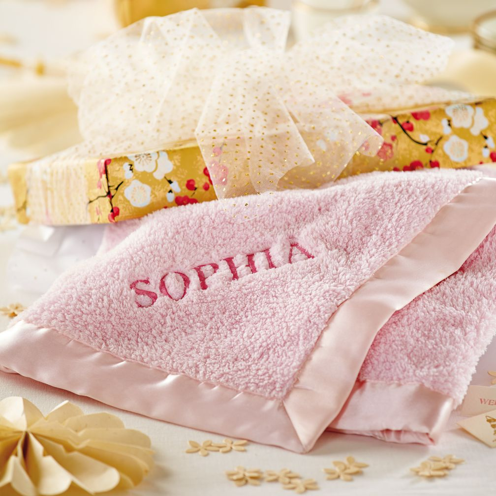 Personalized Cuddle Me Softly Baby Blanket (Pink)