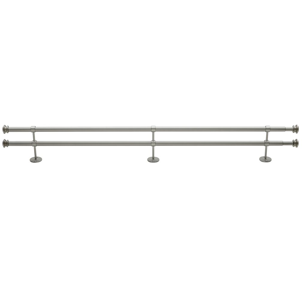 "48-84"" Button Cap Double Rod (Nickel)"