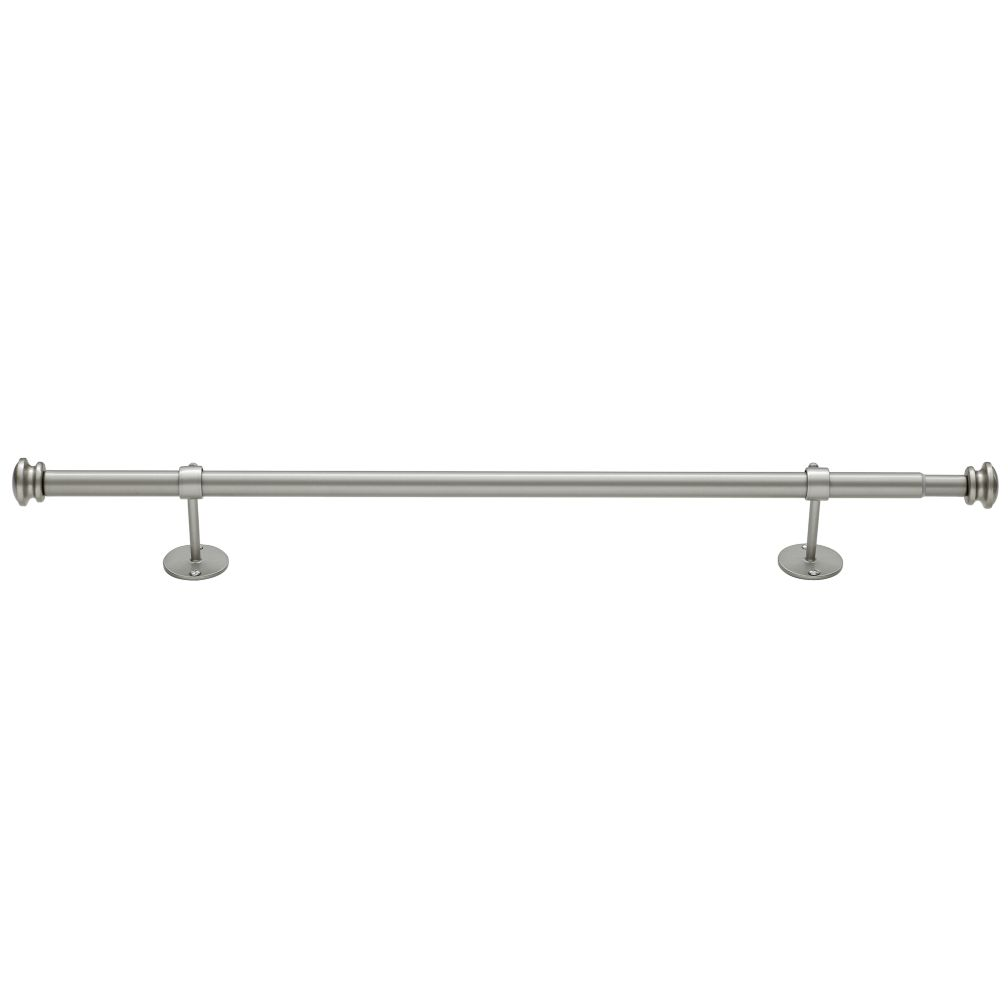 "28-48"" Nickel Button Cap Single Rod"