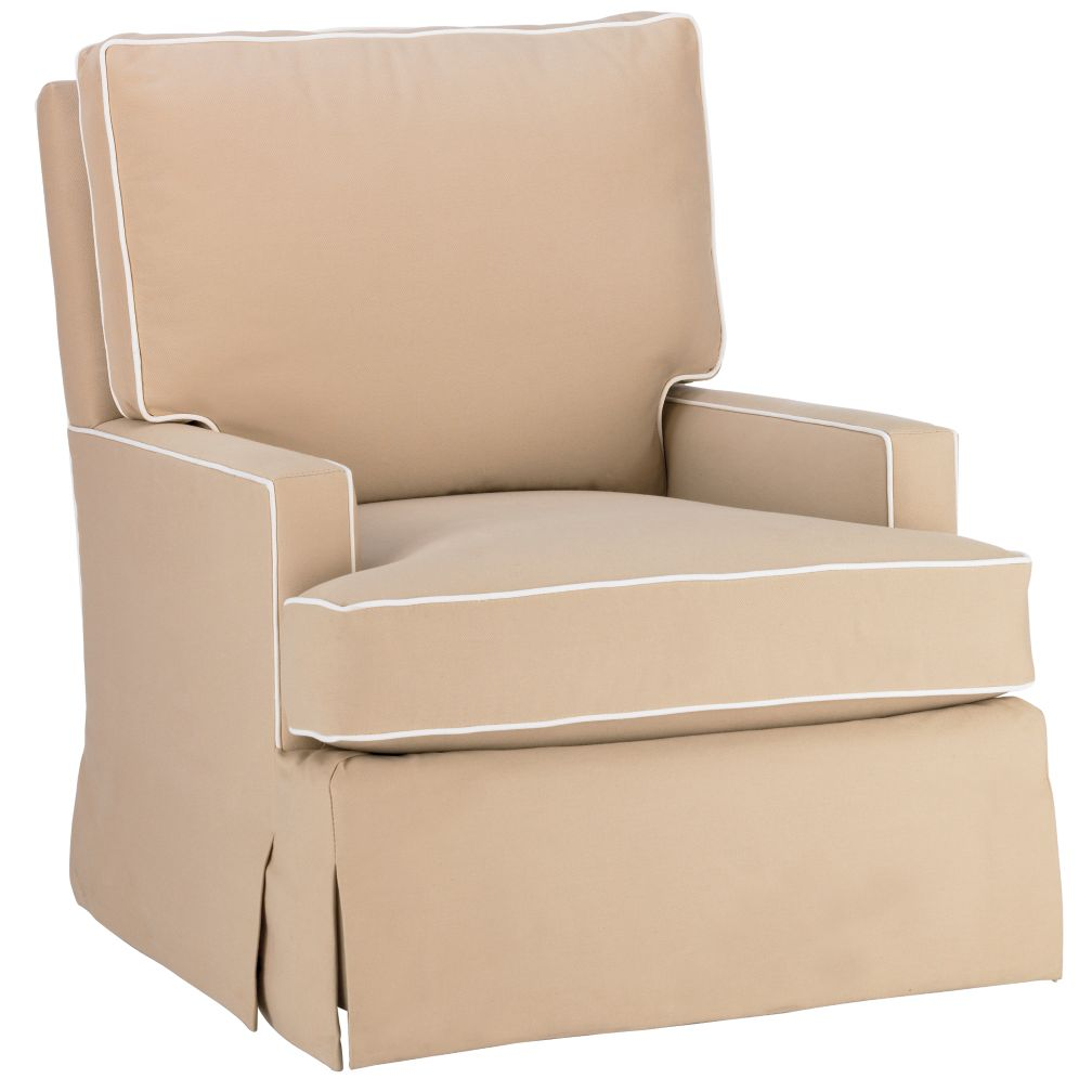 Mod Nod Swivel Glider (Sand w/ Natural Piping)