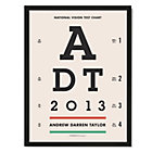 Eye Chart Personalized Black Framed Wall Art