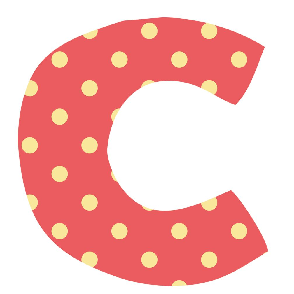 Fantabulous Fabric Letter c