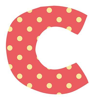 Fantabulous Fabric Letter c