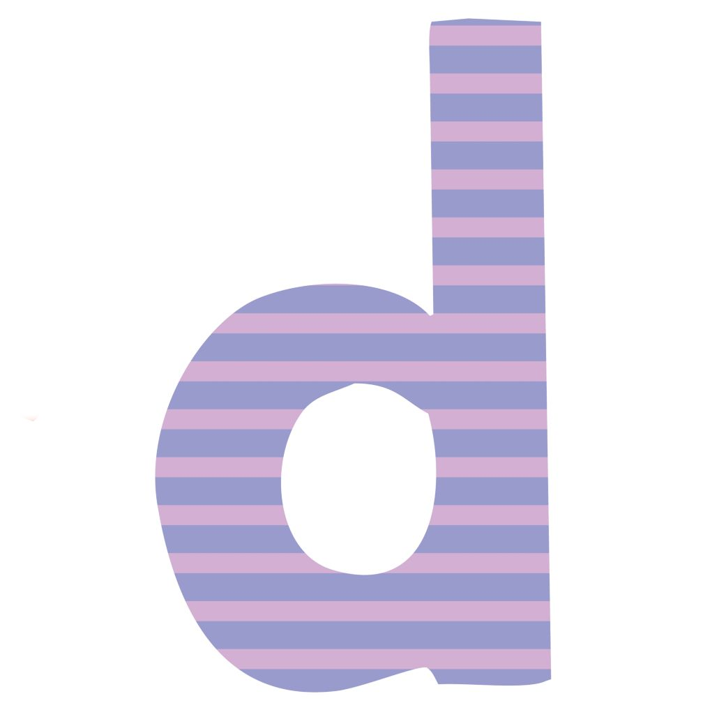 Fantabulous Fabric Letter d